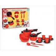 Cozinha de Brinquedo Kit Gourmet 13 Peças Nig Brinquedos