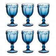 Jogo de Taças Libélula Azul 260 ml com 6 Peças