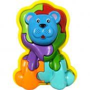 Quebra-cabeça Pedagógico Calesita Animal Puzzle Leão 3D - 7 Peças