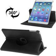 Capa iPad Air Giratória 360° Graus em Couro - Preta