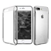 Capa iPhone 7 Plus Baseus Fusion Bumper Original - Cinza