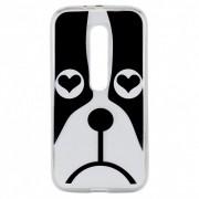 Capa Moto G3 - Cachorro Bulldog Coração - Personalizada
