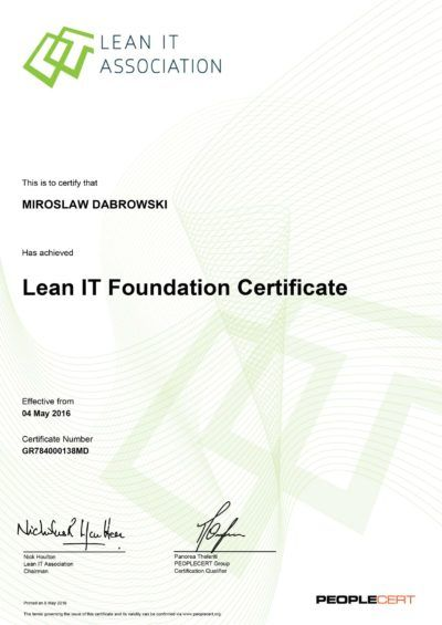 Exame Online - LITA - Lean IT Foundation