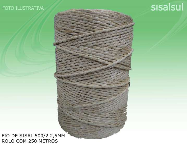 1Rolo Fio de Sisal 500/2 2,5mm