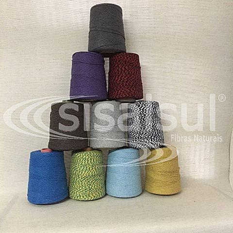 Barbante algodão colorido 400 gr