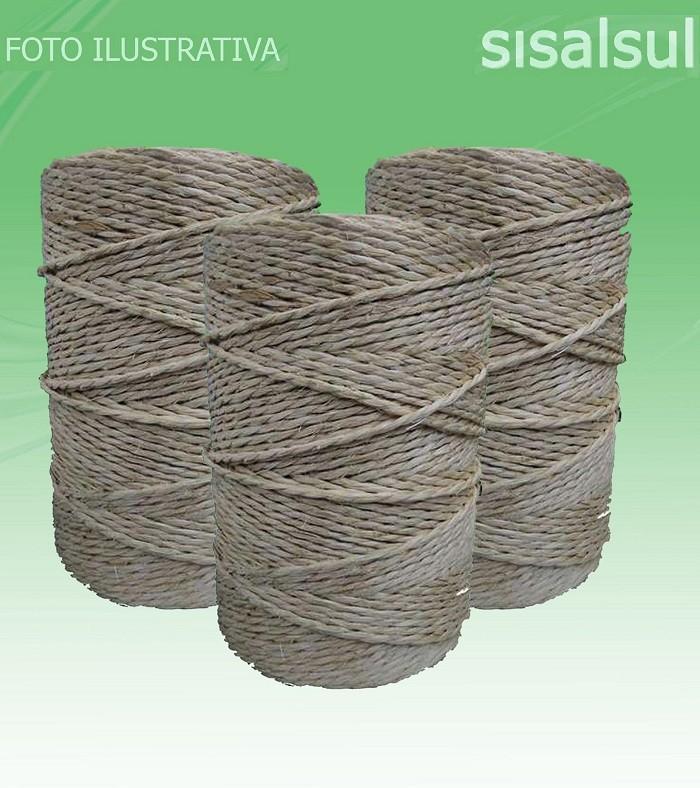FIO DE SISAL 500/2 2,5MM - 1KG x KIT DE 3 ROLOS