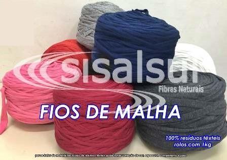 FIOS DE MALHA COLORIDA - 1Kg x 1 ROLO