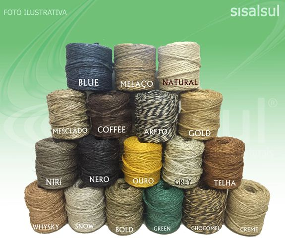 Hilo de sisal color