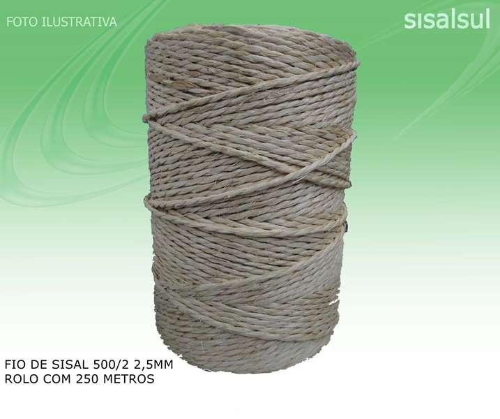 Kit 3 Rolos Fio de Sisal 500/2 2,5mm