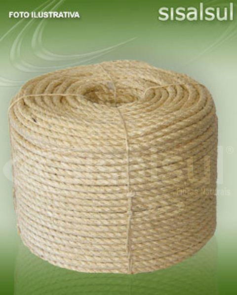 CORDA DE SISAL NATURAL - 6mm x 100 METROS