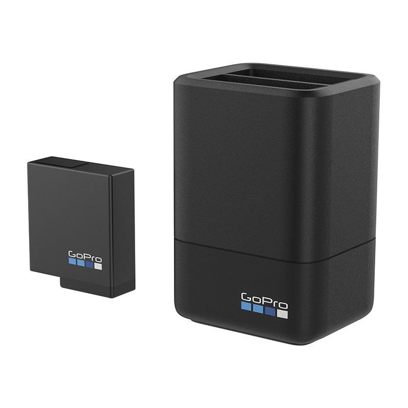 Bateria e Carregador Duplo - GoPro Hero8 Hero7 Hero6 Hero5 - AADBD-001