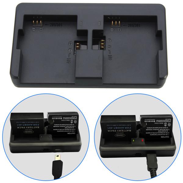 Carregador Hero3 e Hero4 - Duplo - AHDBT-201/301/401 - Mini e Micro USB