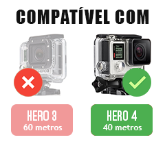 Filtro de Mergulho - Magenta - GoPro Hero3+ e Hero4 - Caixa de 40 metros