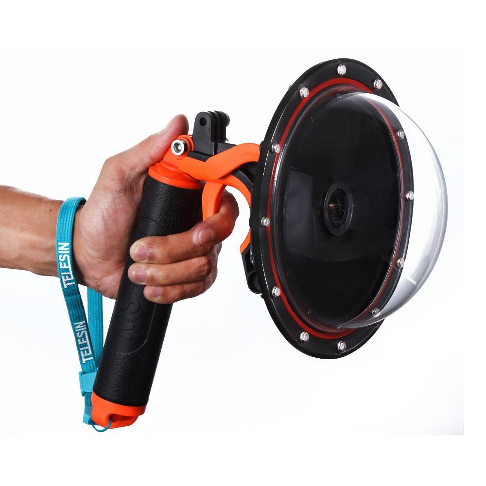 Gatilho com Bastão Flutuante e Suporte para GoPro com Smartphone - Telesin
