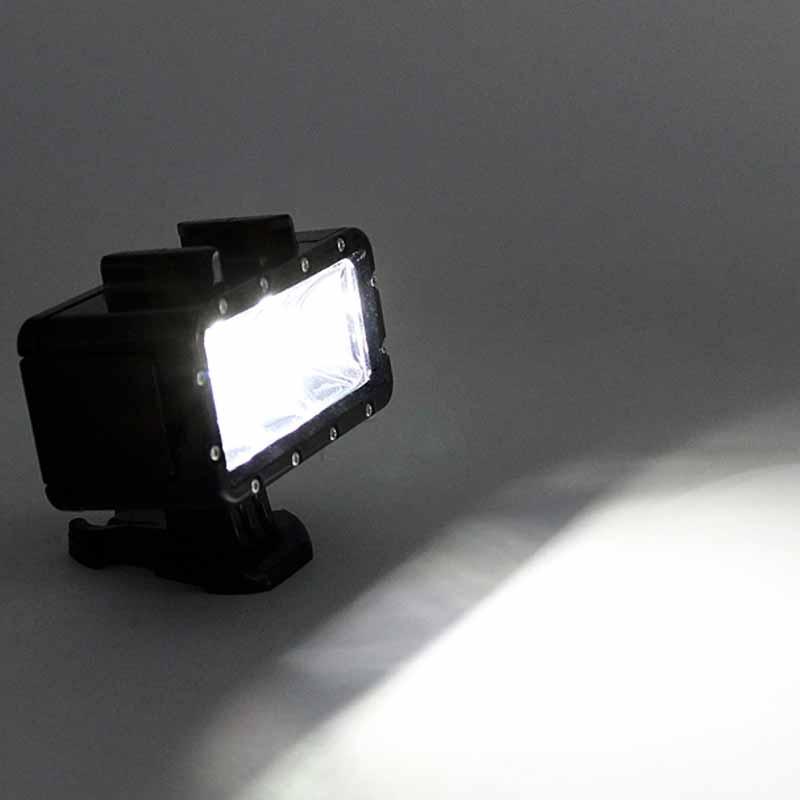Iluminação de Led - Mergulho - A Prova d'agua - 40 Metros - GoPro SJCAM Xiaomi Eken