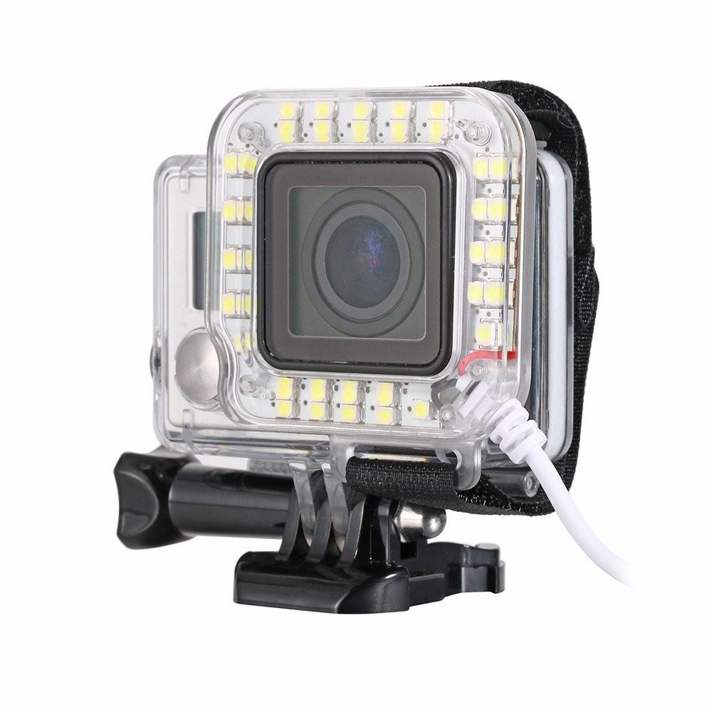 Iluminação de LED Anel USB - GoPro Hero3+ Hero4 - Caixa de 40 metros