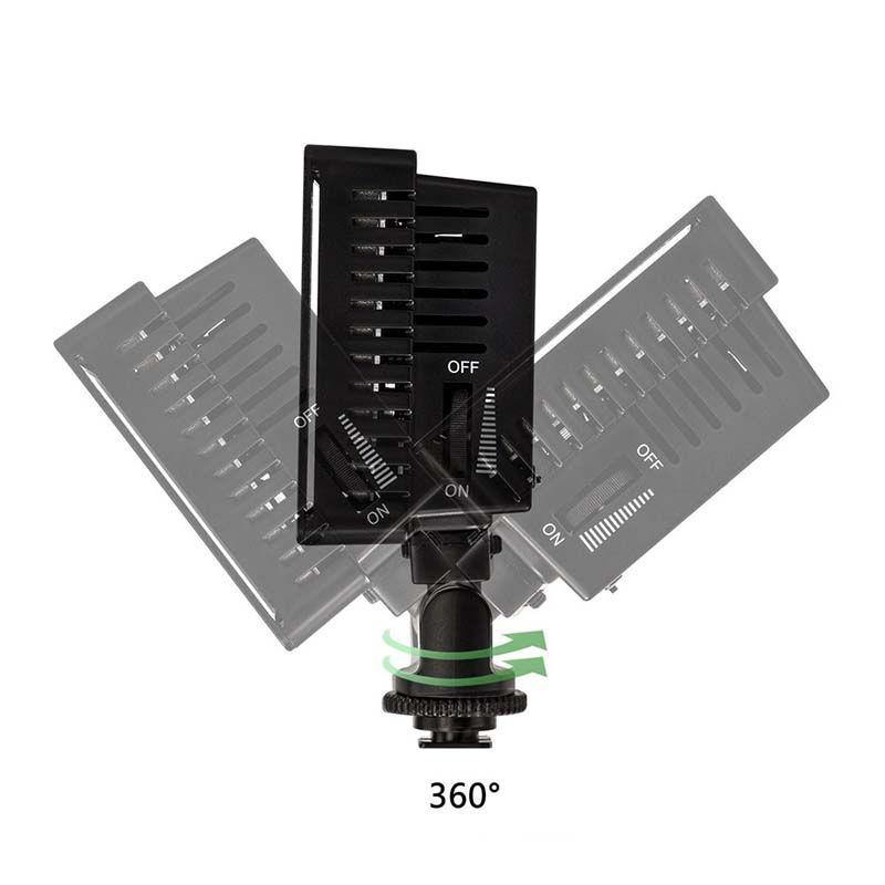 Iluminador LED Profissional - HD-160 - DSLR Nikon Canon Olympus