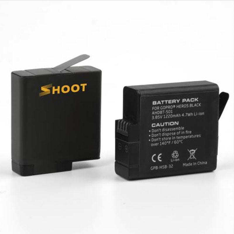 Kit com Carregador Duplo e Duas Baterias - GoPro Hero5 Hero6 Hero7