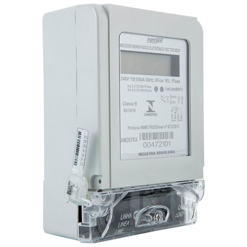 Medidor De Energia - Monofásico - Eletrônico - 3 Fios