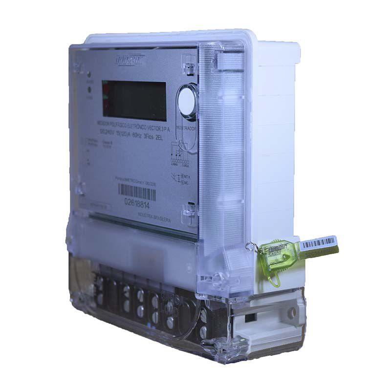 Medidor De Energia - Trifásico - Eletrônico - 4 Fios
