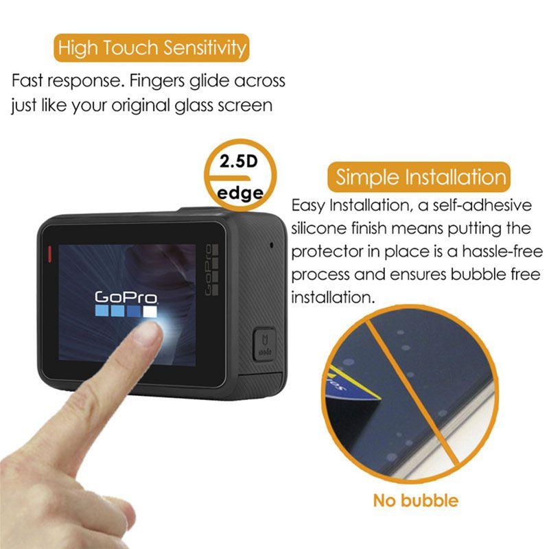 Película de Vidro - Lente e Tela de LCD - GoPro Hero5 Hero6 Hero7 Black