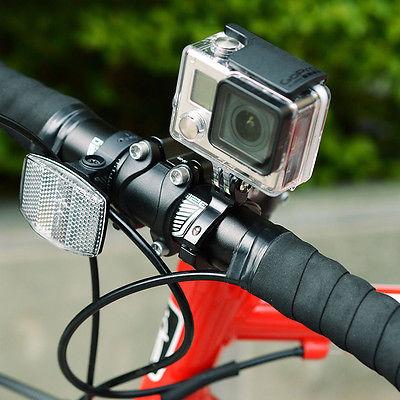 Suporte de Guidão em Alumínio Pequeno - Bicicleta Moto Barra Tubular - GoPro SJCAM Eken Xiaomi