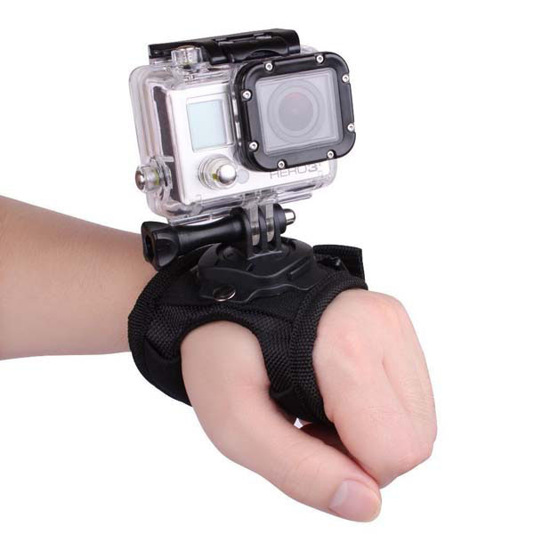 Suporte em Luva Giratório 360 Graus - Grande - Wrist - GoPro SJCAM  Yi Eken