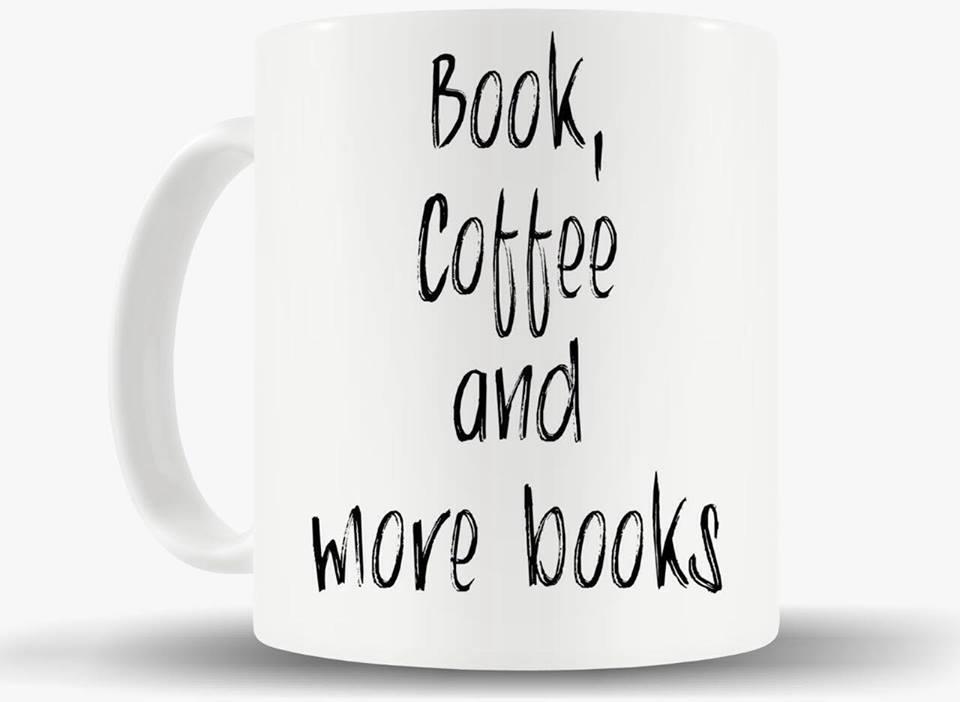 Caneca Book, Coffee and more Books