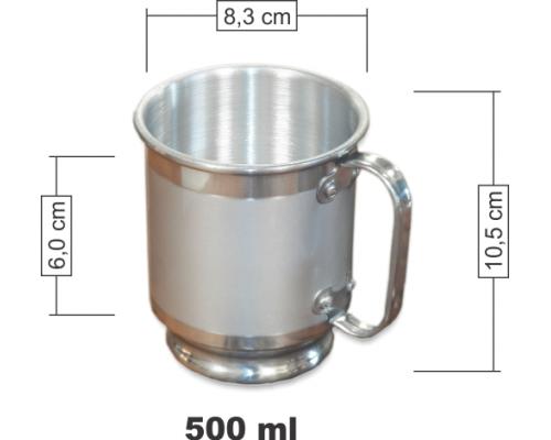 Caneca de Chopp Alumínio 500 ml