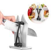 Amolador De Faca Afiador Cozinha Manual Laminas Afiadas Tesoura
