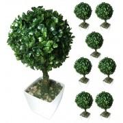 Buchinho Planta Artificial Com Vaso Ornamentacao Festa Decoracao Jardim Casa Kit 8 Unid (bsl-sh-7 KIT8)