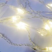 Cascata Natal Pisca Pisca Gota Orvalho 138 LED Natalino Branco Quente 8 Modos