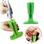 Escova Dentes Mordedor Canina Cao Pet Limpeza Remove Tartaro Cachorro Grande