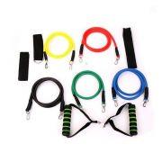 Kit Elasticos Tubing Exercicios Extensores Funcional Fitness