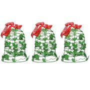 Kit Mini Sino de Natal Verde Decoracao Natalino Kit com 3 unid