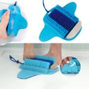 Limpa Pes Escova Esfoliante Chuveiro Box Pedra Pome Banheira Ventosa