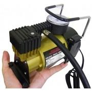Compressor de Ar Para Carro Portatil Pratico 12V Veicular Cor Dourada Pequeno (BSL-COMP-1)
