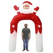 Papai Noel Natal em Arco Inflavel Natalino 3 metros e 15 cm Decoracao