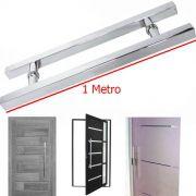 Puxador De Porta Aco Inox Duplo 1 Metro Porta Pivotante Quadrado H Vidro Casa (BSL-PXD-7)