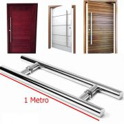 Puxador Para Porta Aco Inox 1 Metro Duplo H Casa Porta Pivotante (BSL-PXD-3)