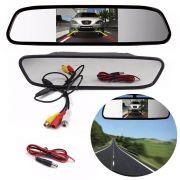 Retrovisor Espelho LCD 4.3 Pol Para Camera De Re Carro Automotivo (ZE-0027/BSL-CAR-6)