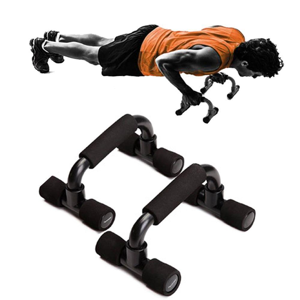 Apoio Flexao Braço Fixo Fortalecimento Musculaçao Exercicios Preto