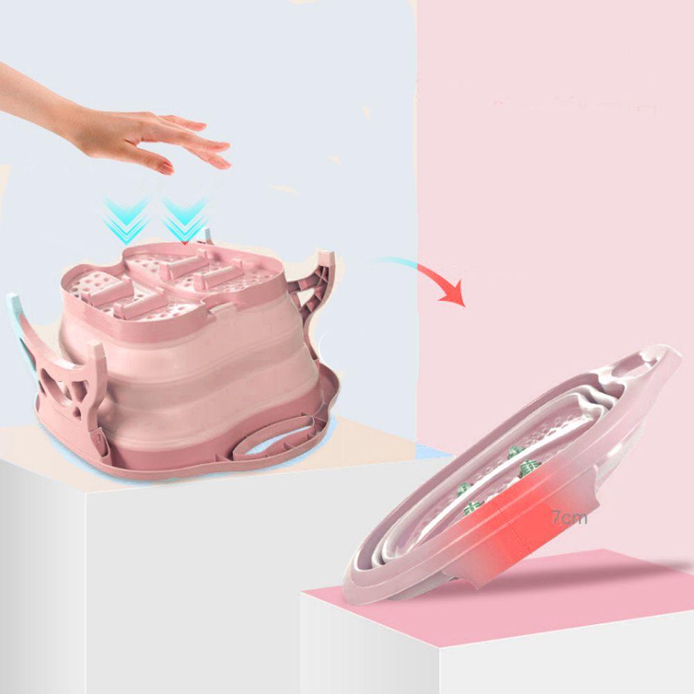banheira Massageador Para Pés pedicure Portátil bacia dobravel spa relaxamento massagem banho Rosa