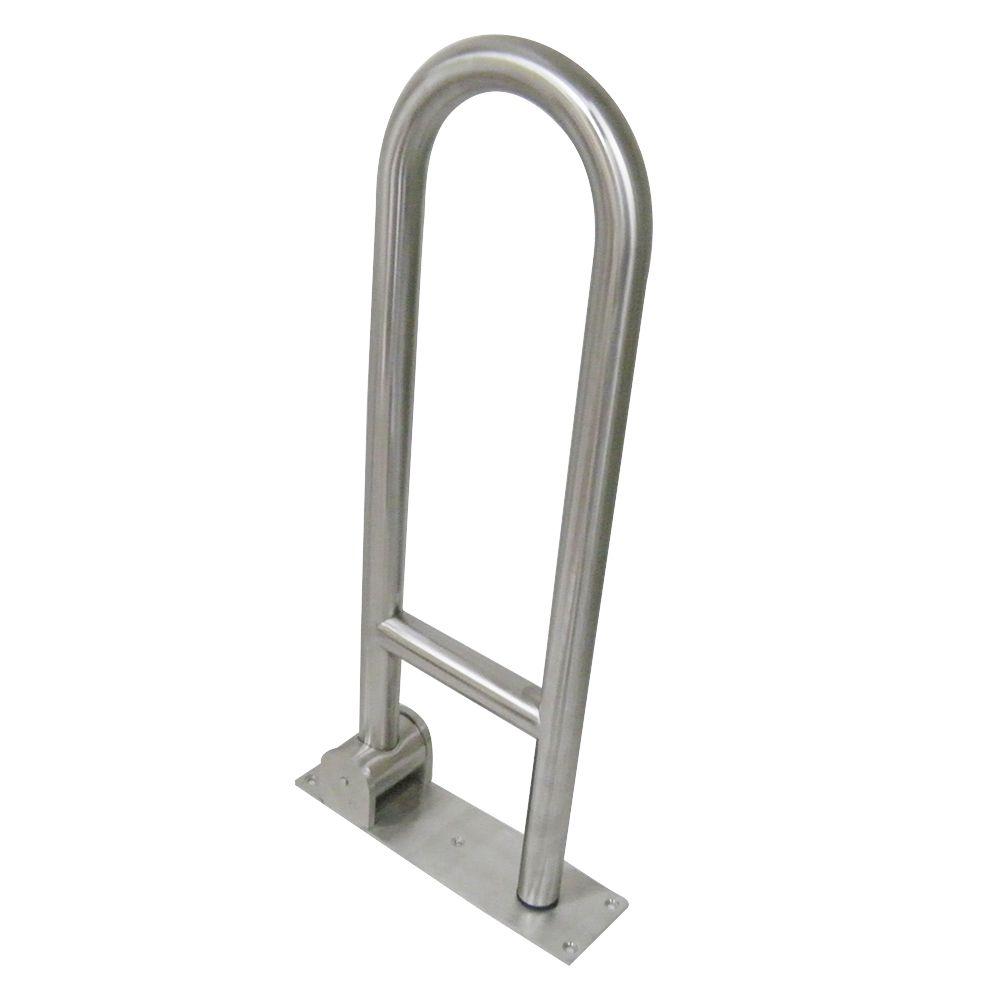 Barra Apoio Articulada Lateral Idoso Cadeirante Banheiro Inox Acessibilidade Segurança