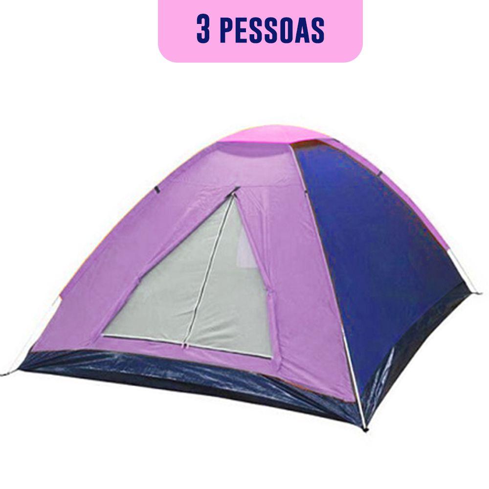 Barraca de Camping Acampamento 3 Pessoas Iglu Trilha Cores Viagem