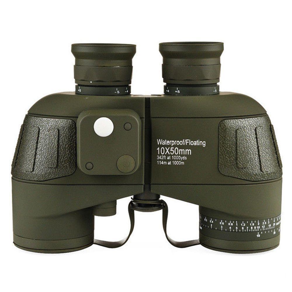Binóculo Telêmetro Ocular Telescópio Bússola  Caça 10x50 HD  À Prova D 'Água Zoom