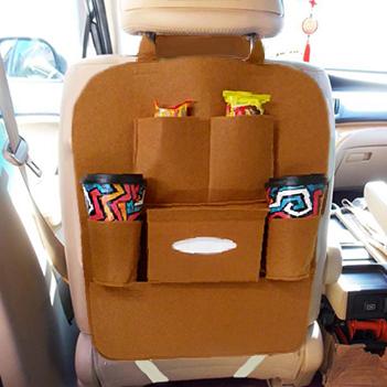 14af45cf5 Bolsa Organizadora Para Uber e Taxi Para Assento De Carro Com 6 Divisorias  Marrom (93167) - Ideal Importados