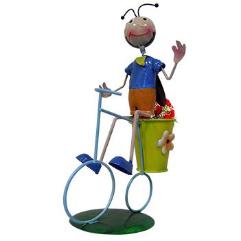 Boneco Joaninha com Bicicleta Enfeite e Decoraçao Jardim Casa Flores (BON-M-15)