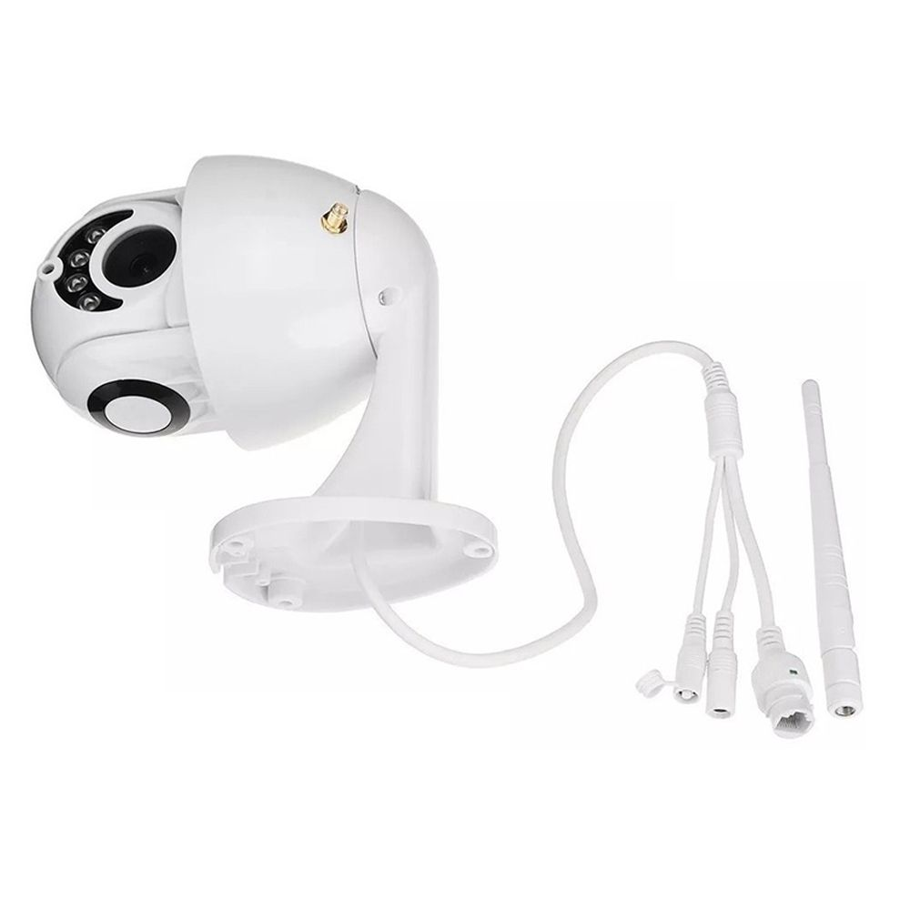 Camera IP Giratoria Speed Dome HD Wifi Resiste Agua Segurança Externa Noturna