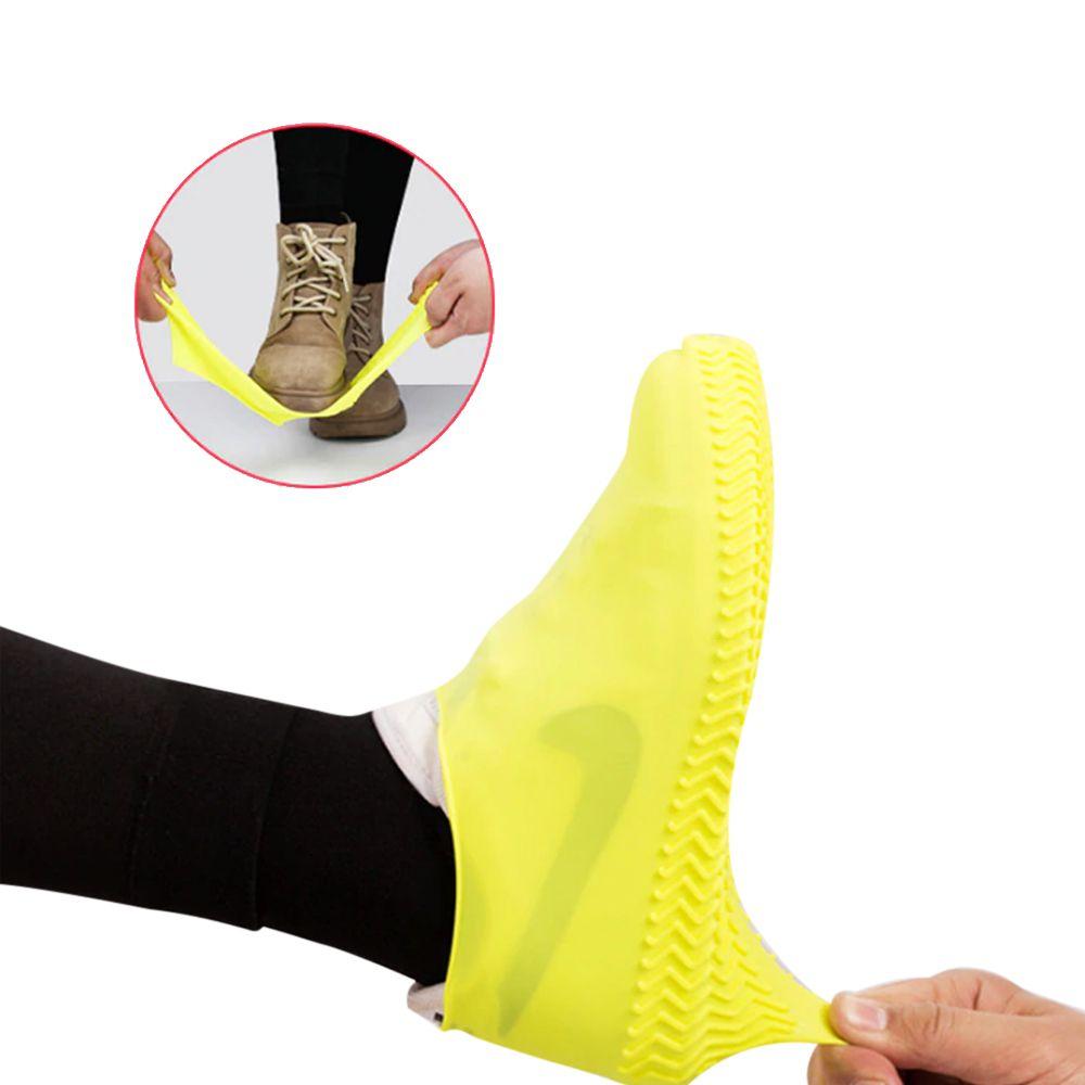Capa Tenis Chuva Silicone Pes Impermeavel Bike Sapato Bota Moto